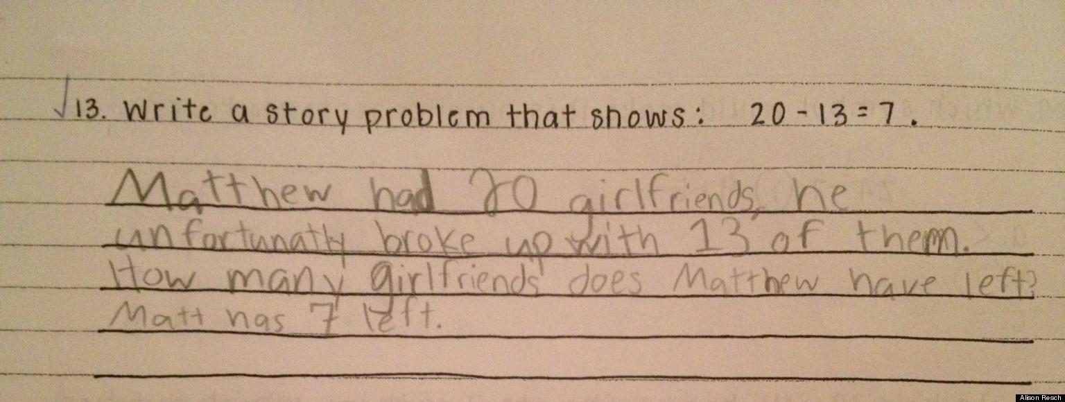 Cute Kid Note Of The Day: Matthew\'s Word Problem | HuffPost