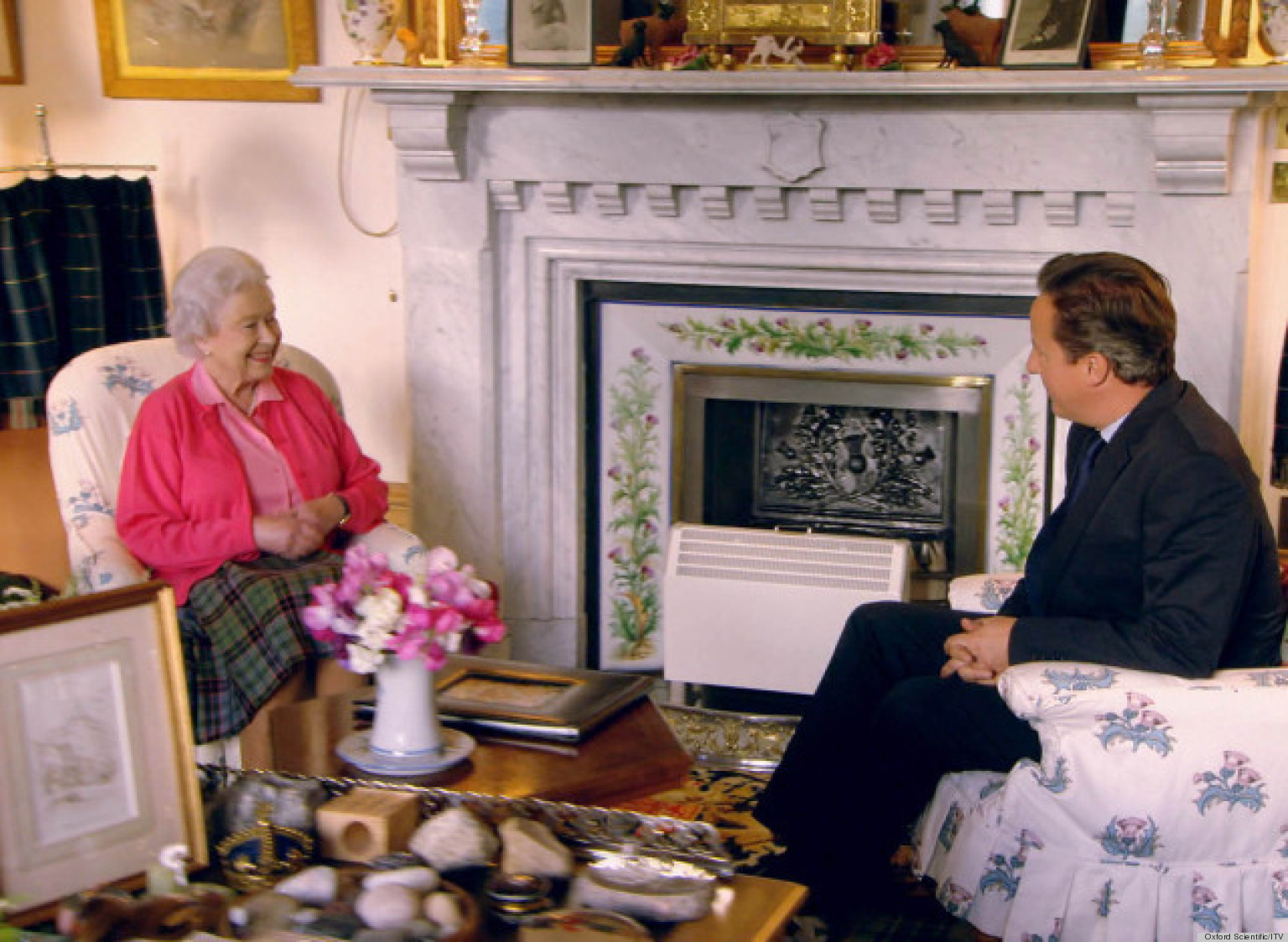 Queen Elizabeth Ii 39 S Private Sitting Room In Balmoral