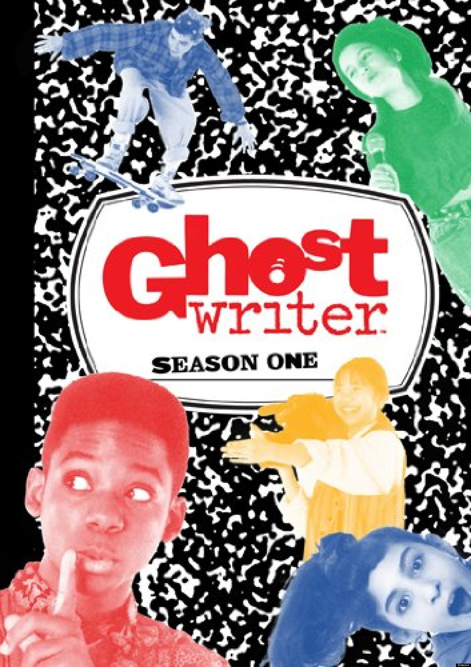 ghostwriter A group of teenagers solves local crimes, capers, and mysteries in their neighborhood, with the help of a ghost who can only communicate through writing and words.