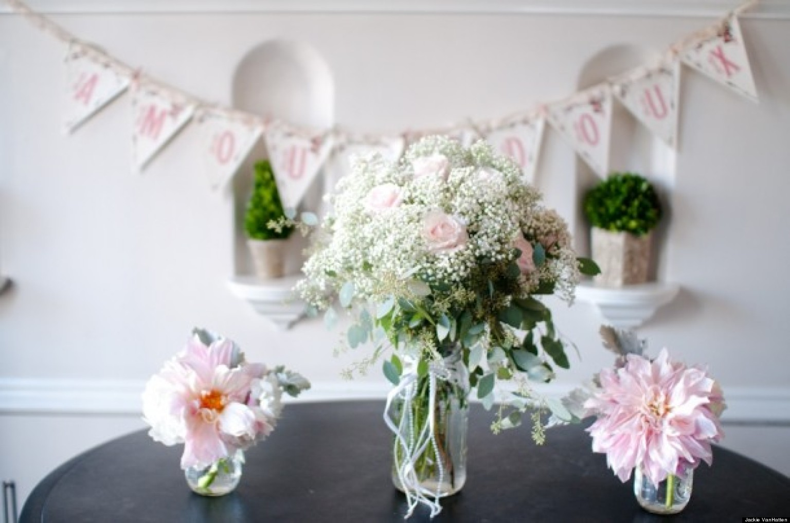 Wedding Flowers: 4 Centerpieces For Your Bridal Shower (PHOTOS ...