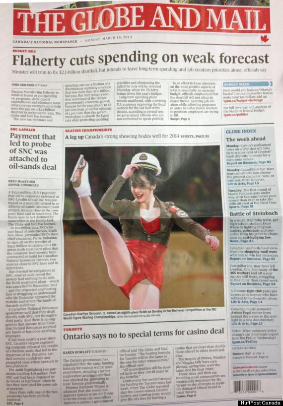 globe and mail skating front
