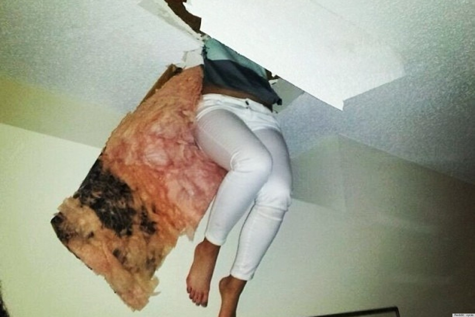 Girl fell through attic floor at a party while hiding from for Floor someone