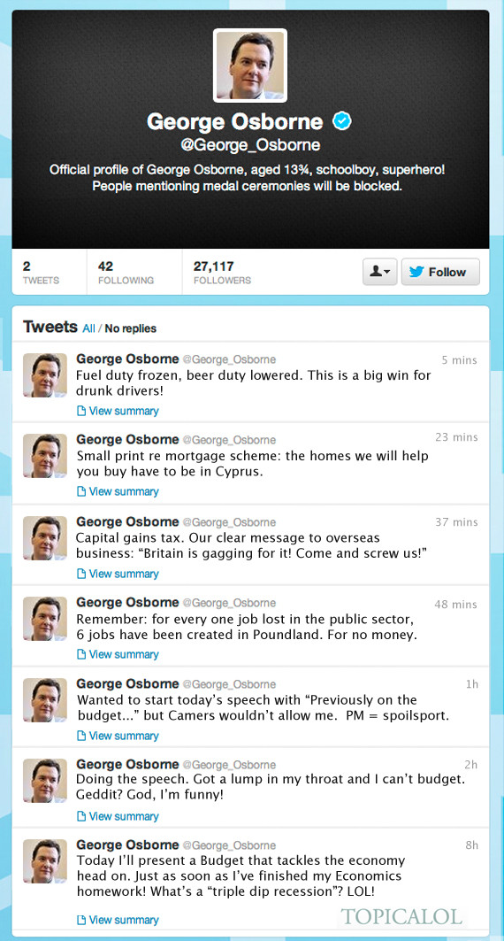 george osborne twitter spoof