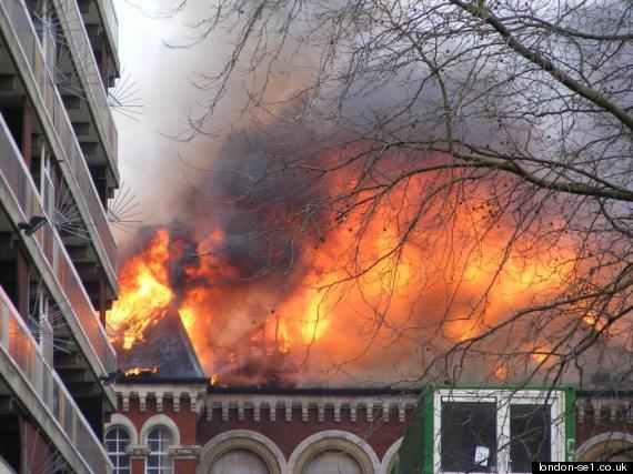 fire newington library southwark