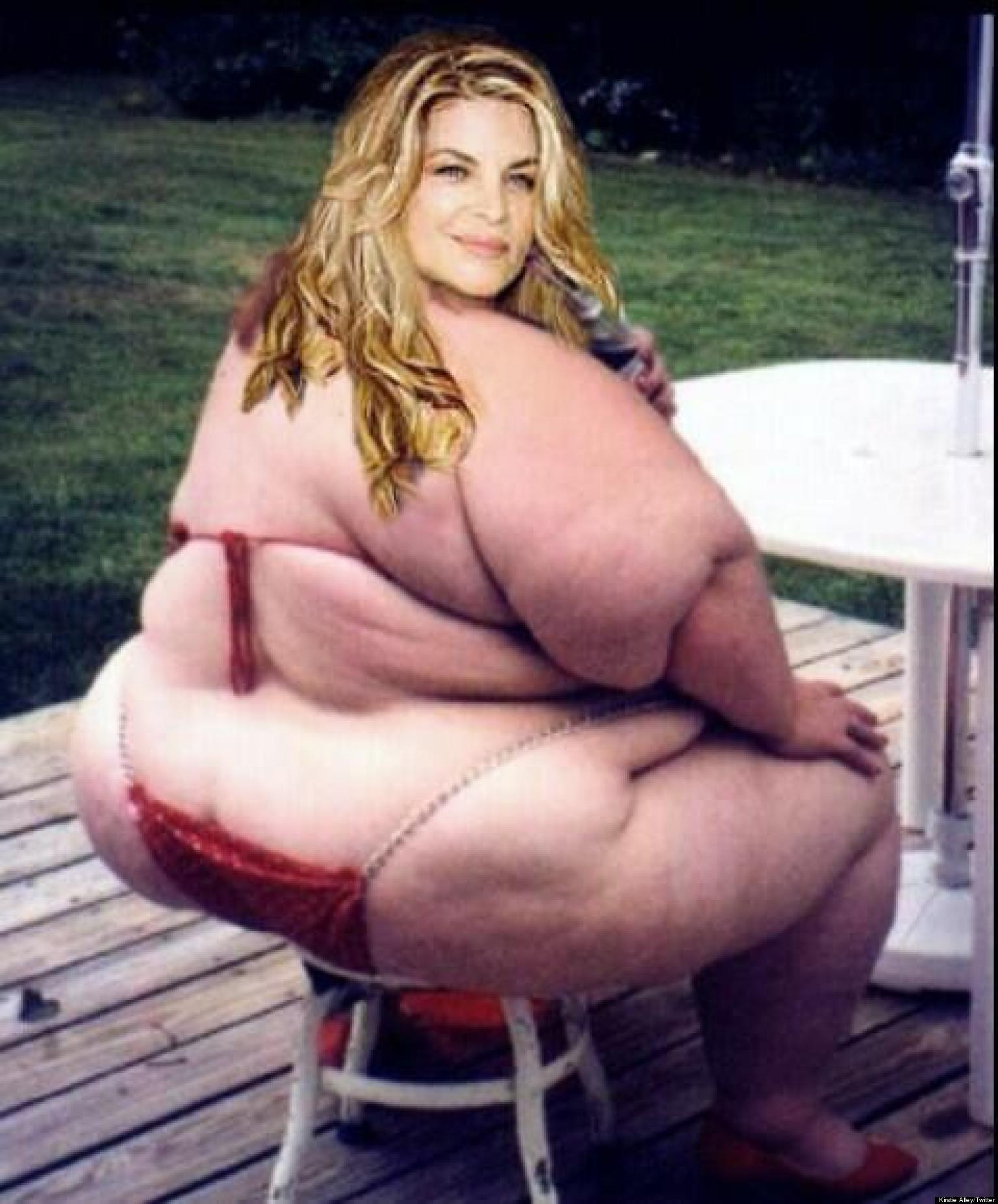 kirstie alley fat: actress tweets photoshopped fat photo of herself