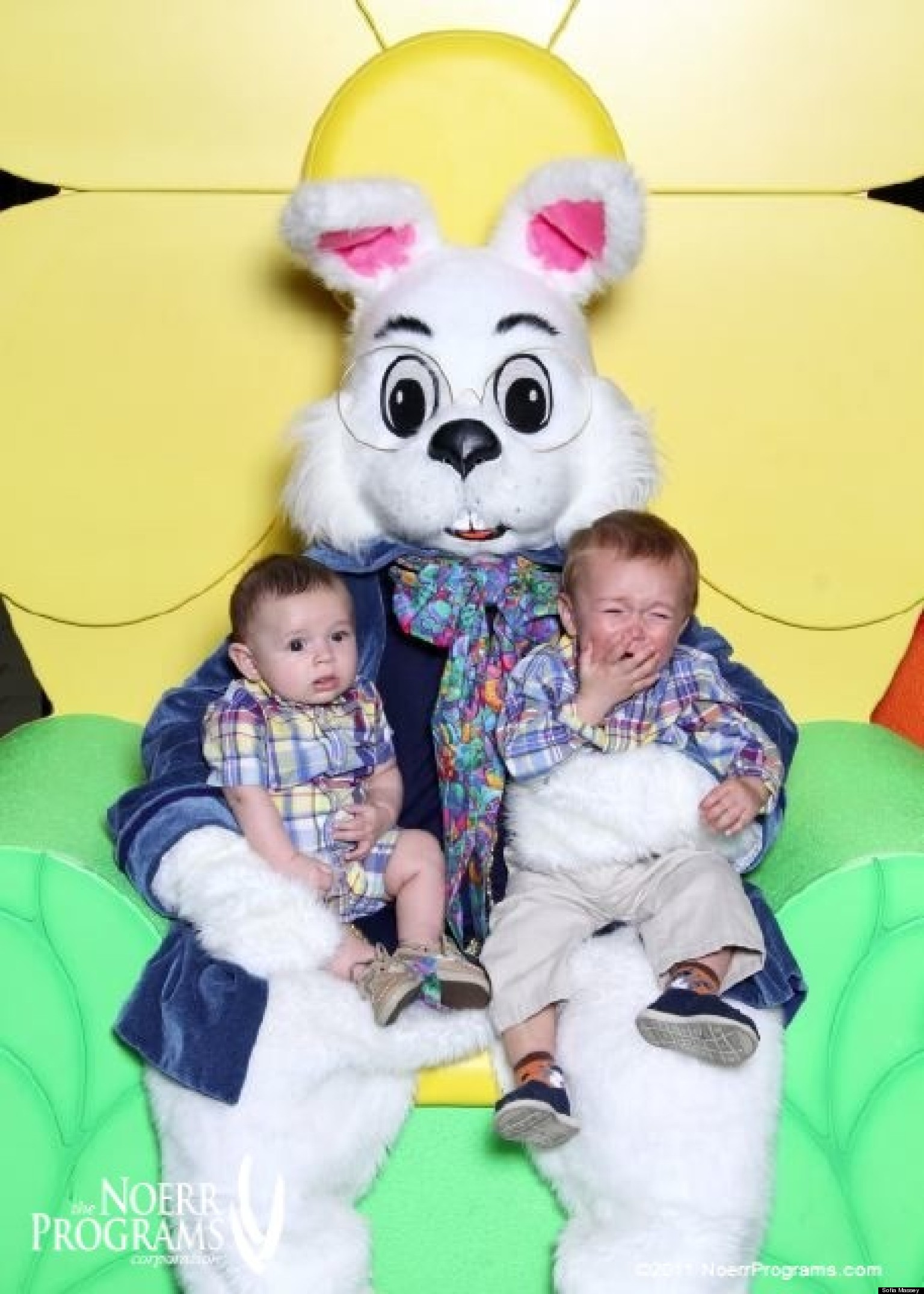 the easter bunny babies and kids are not impressed