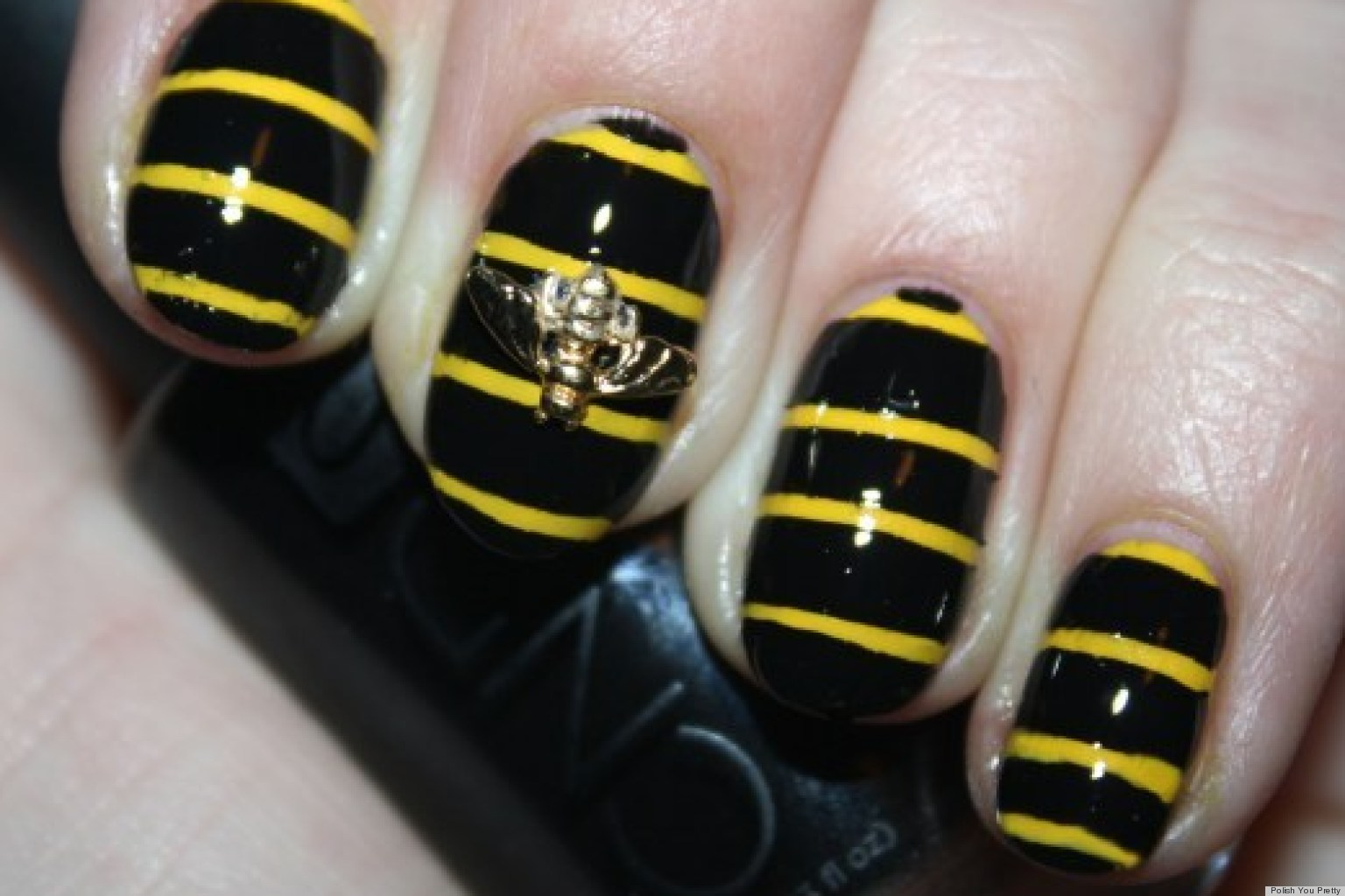 Diy Nail Art Create A Buzz With This 3d Bumblebee Manicure Photos