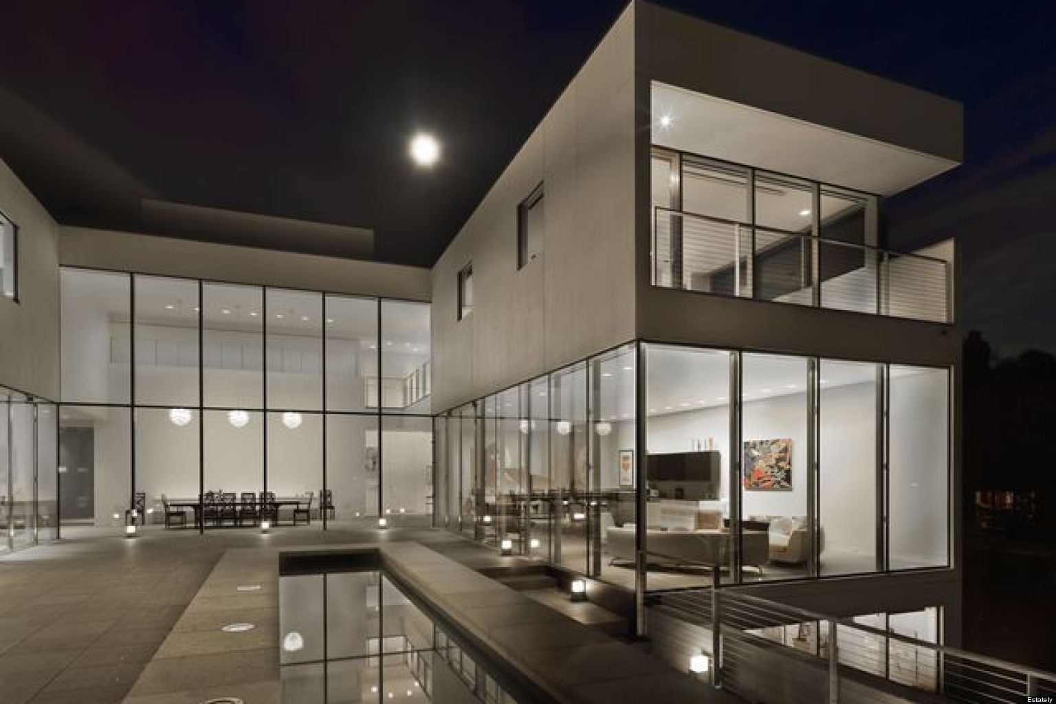 modern mansions. Hinsdale Modern Mansion: Minimal Suburban Luxury Hits The Market At $9.5 Million (PHOTOS) | HuffPost Mansions A