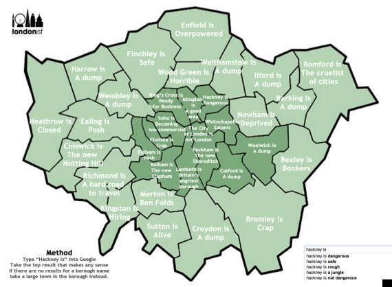 autocorrect map of london