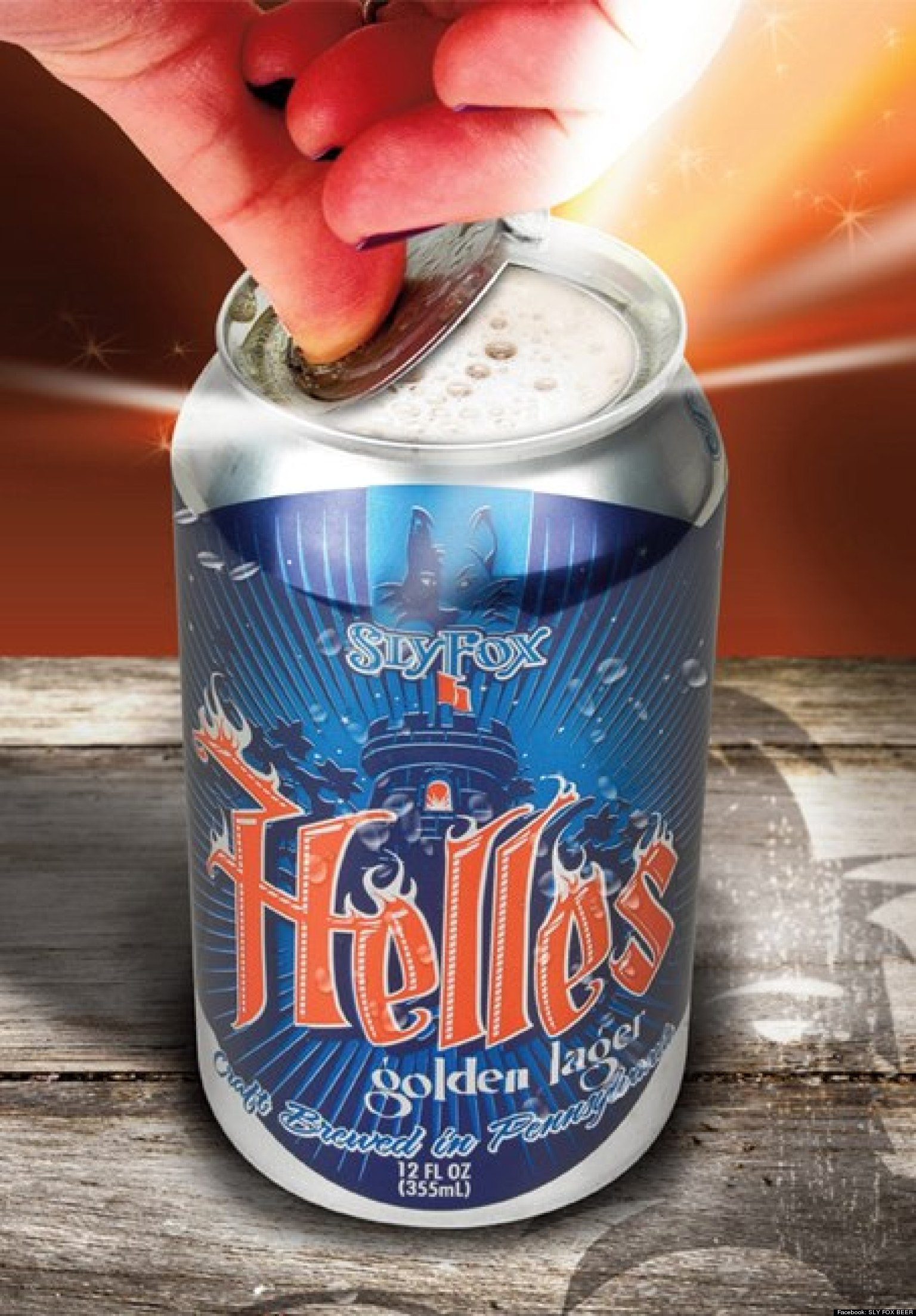 Topless Beer Cans With '360 Lid' Debuted By Sly Fox