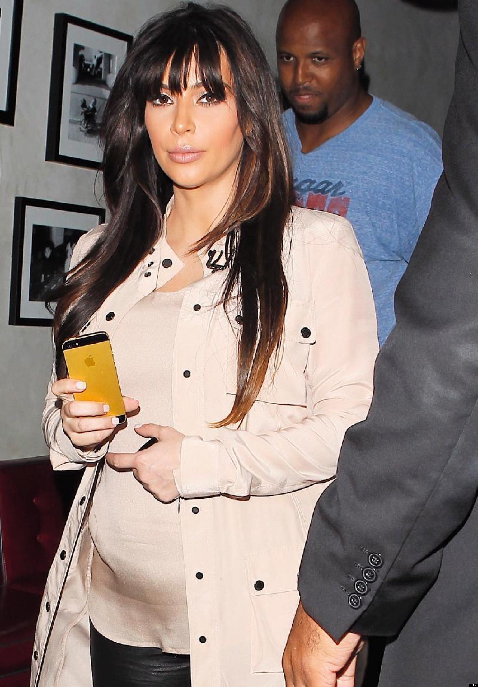 Kim Kardashian s Baby Bump Growing Bigger PHOTO