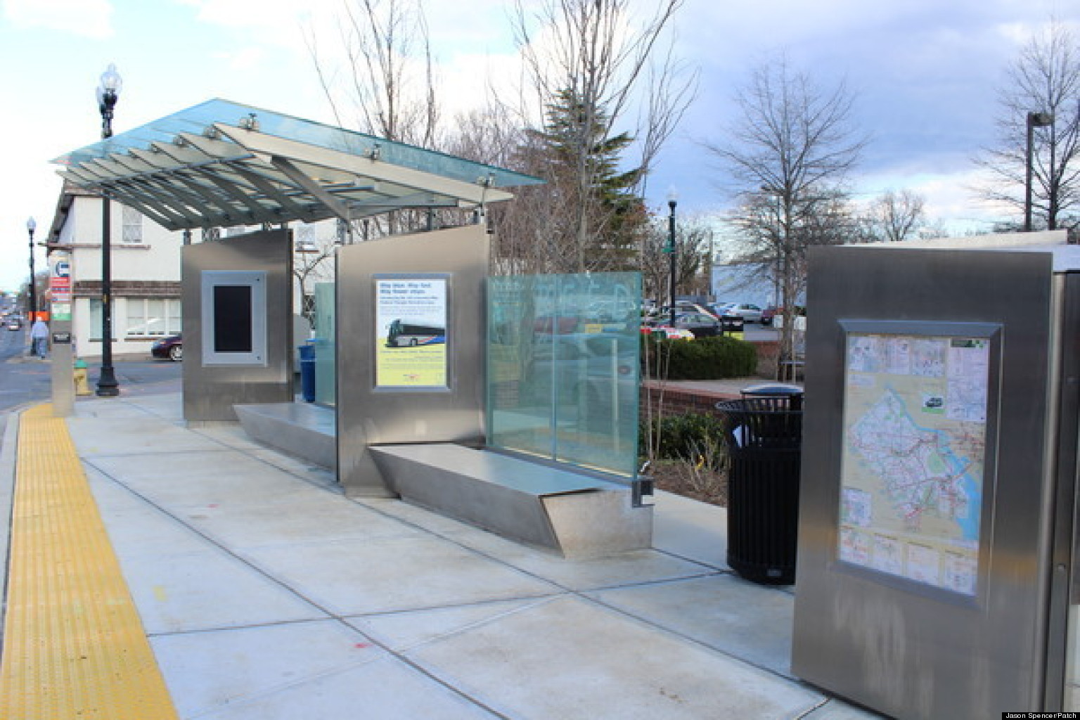 Million Dollar Bus Stop Northern Virginia Super Stop Has