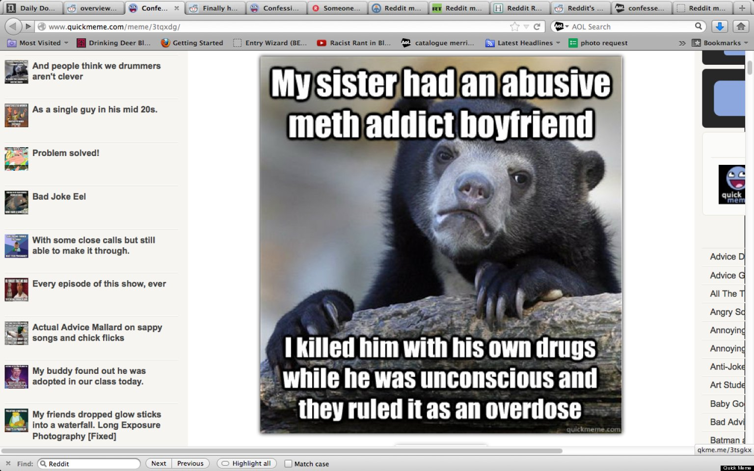 Redditor Uses 'Confession Bear' Meme To Allegedly Confess ...