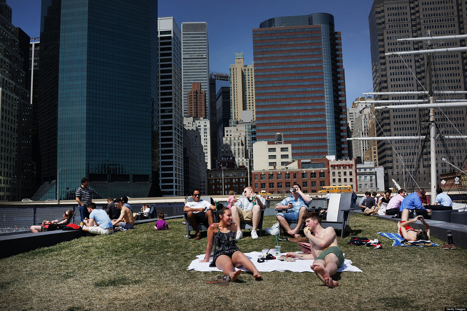 york weather. New York City Weather The Warmest In Months, Yorkers Bask Sun (PHOTOS) | HuffPost T
