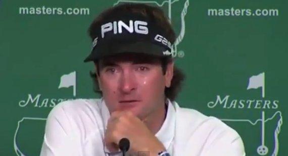 bubba watson crying