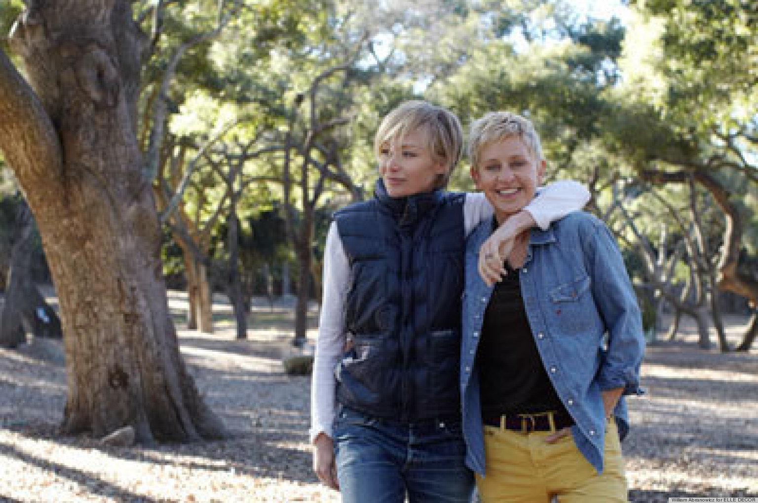 Ellen Degeneres And Portia De Rossi Show Off Their