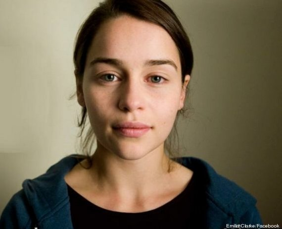 emilia clarke sin maquillaje