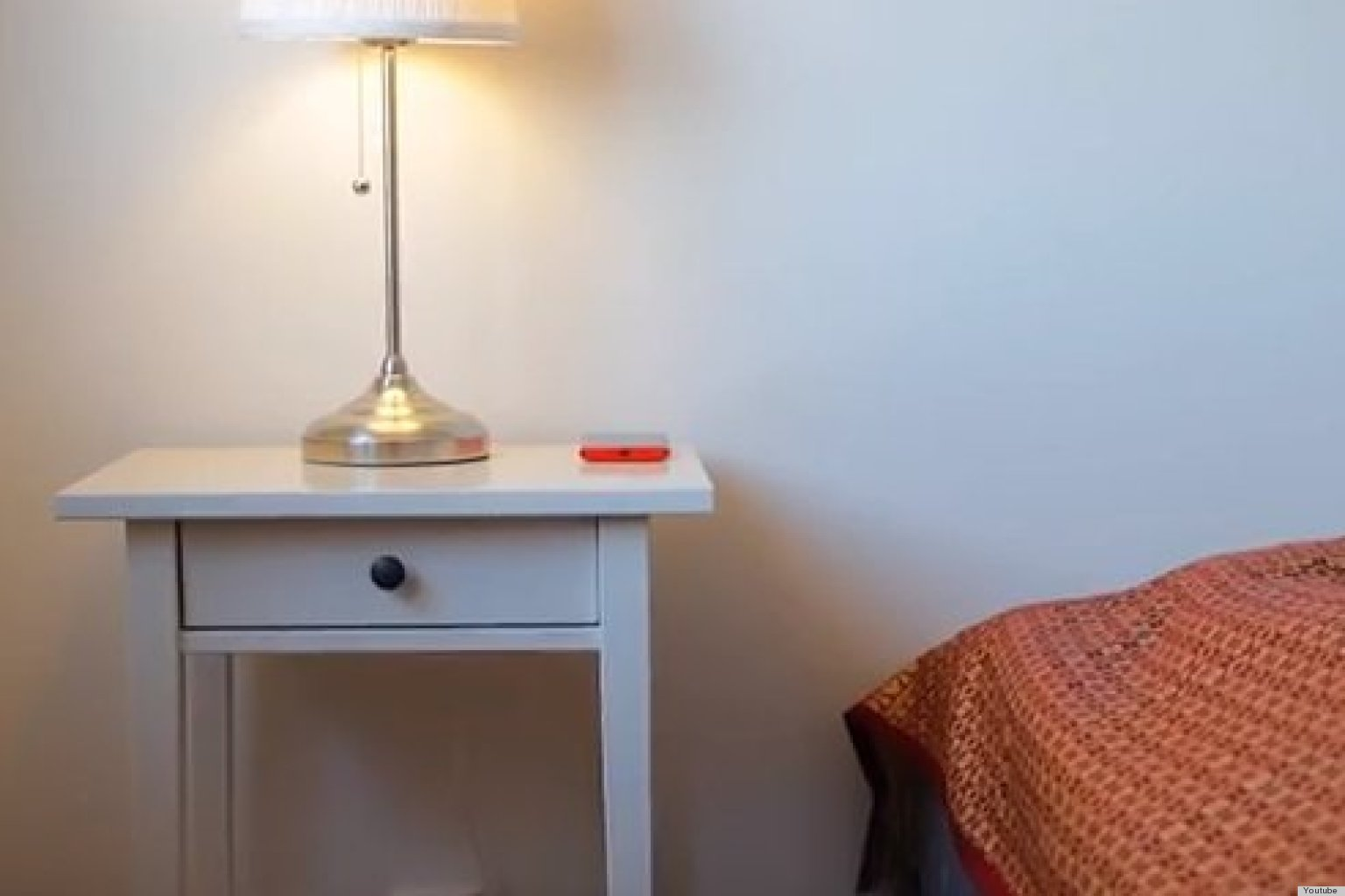 a wireless charger built into a nightstand is the coolest ikea hack Night Stand with Built in Lamp