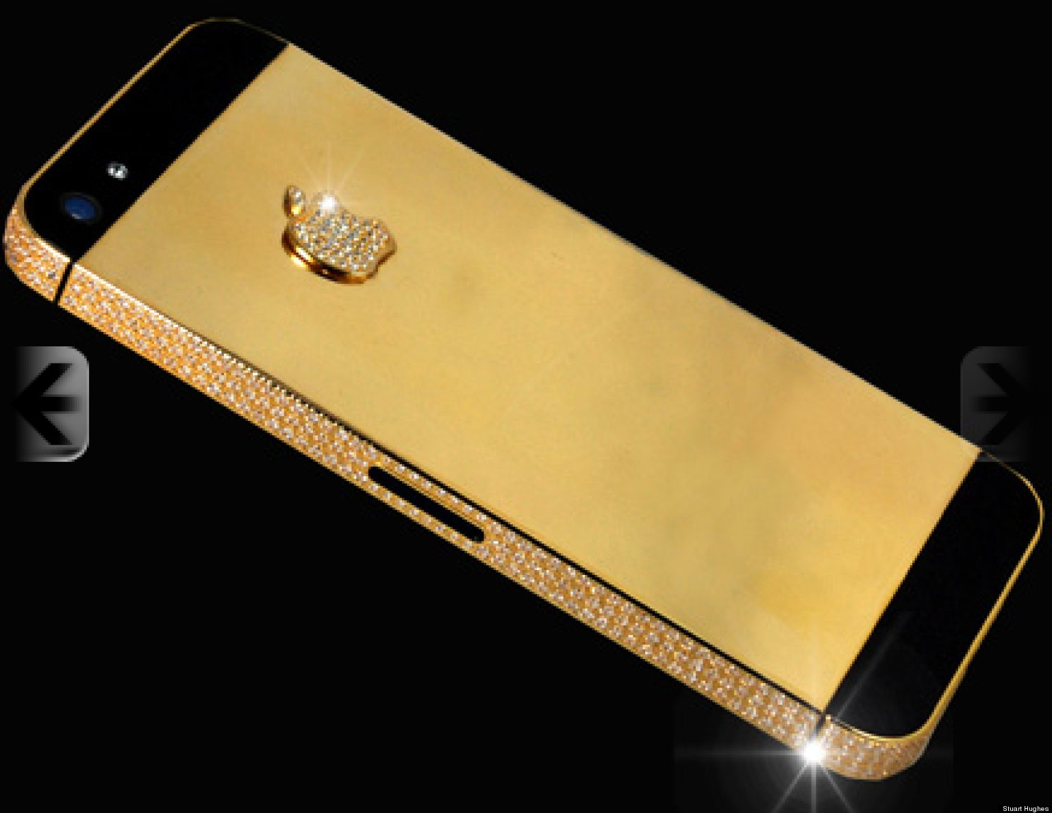 World S Most Expensive Iphone 5 Stuart Hughes Speciality Black Diamond Phone For 15 3 Million Huffpost