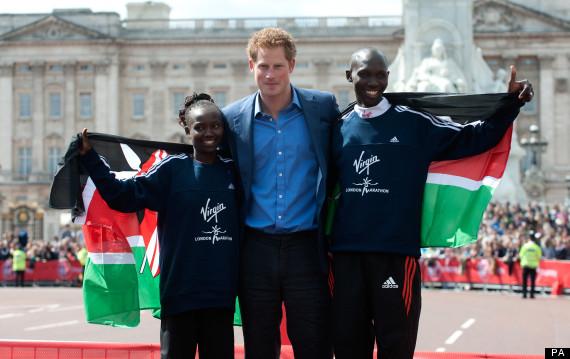 prince harry london marathon