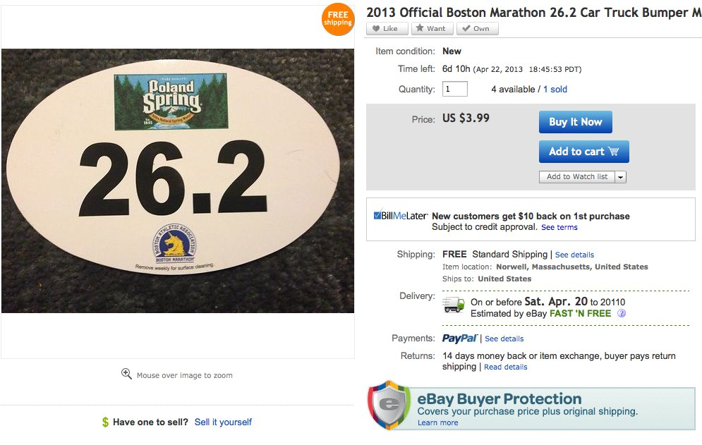 boston marathon ebay 2