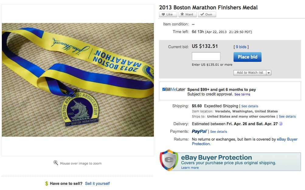 boston marathon ebay