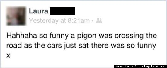 worst status of the day facebook