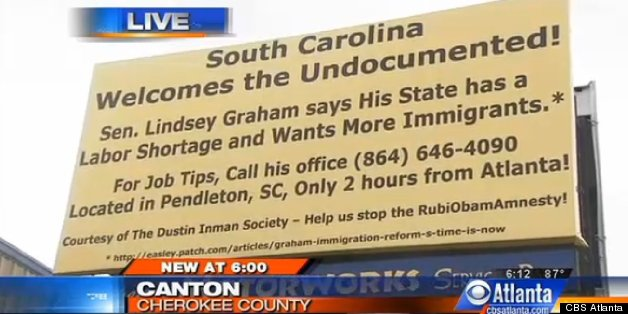 Nice Georgia Billboard Tells Immigrants To Go To South Carolina