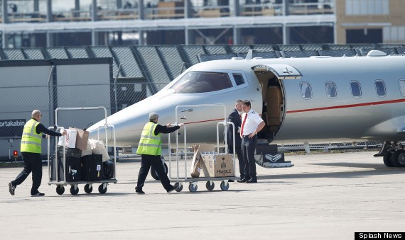 victoria beckham plane