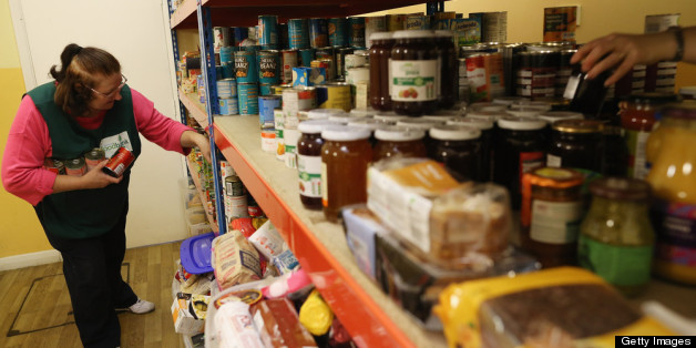 A volunteer at a food bank in Brixton