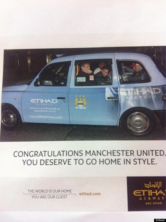 manchester united etihad taxi