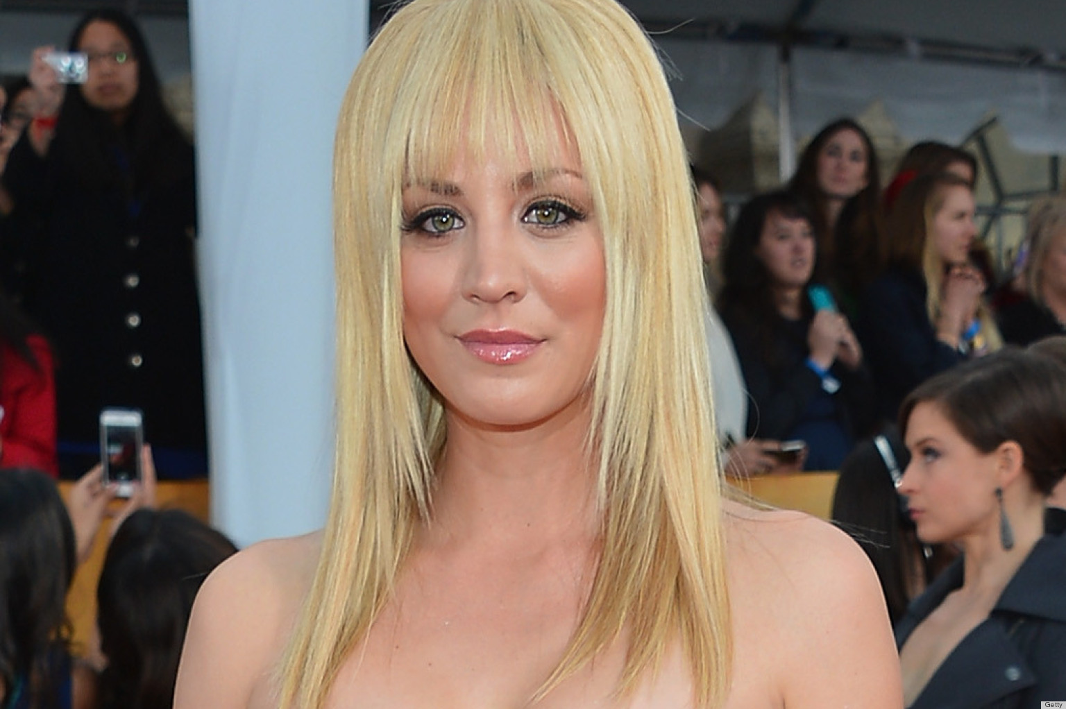 Kaley Cuocos Bangs From Sag Awards Named Bev For Some Strange