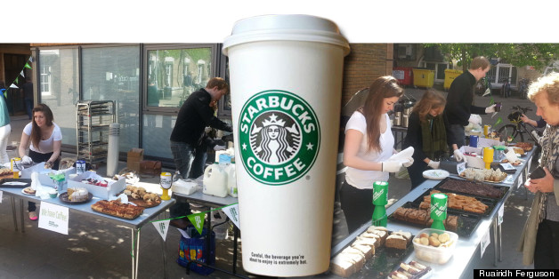 Students have been called scabs for using Starbucks coffee in their Macmillan cancer charity event
