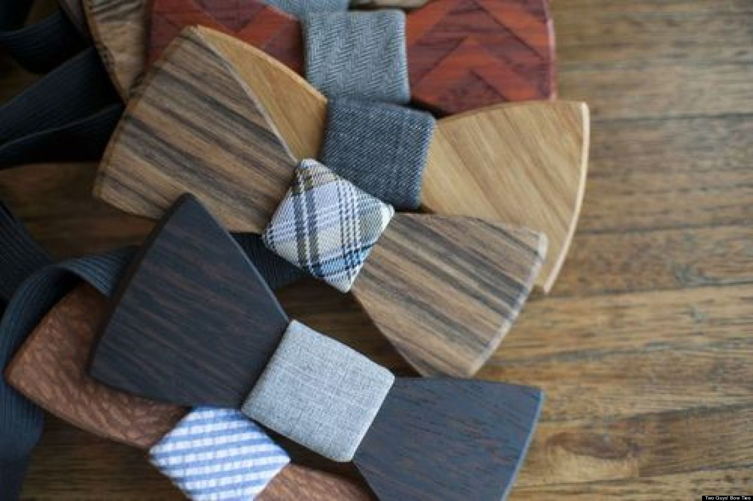 wooden bow ties are the perfect accessory for indie grooms