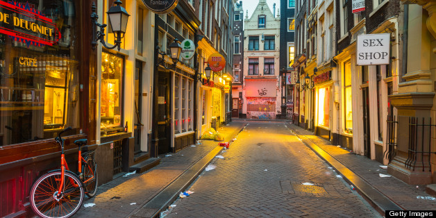 Amsterdams red light district by night huffpost aloadofball Gallery