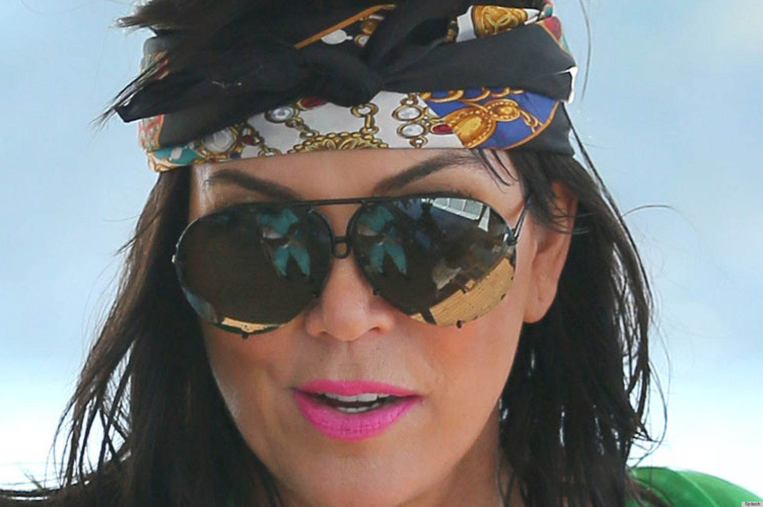 Kris jenners long hair is quite a surprise photos huffpost urmus Gallery