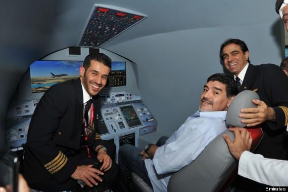 diego maradona flight simulator