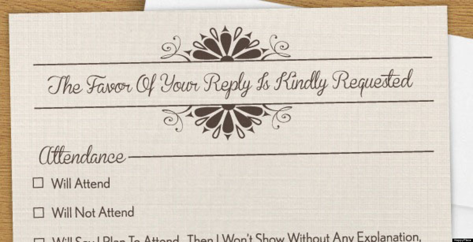 Funny RSVP: The Invitation You Wish You Could Send (PHOTO) | HuffPost