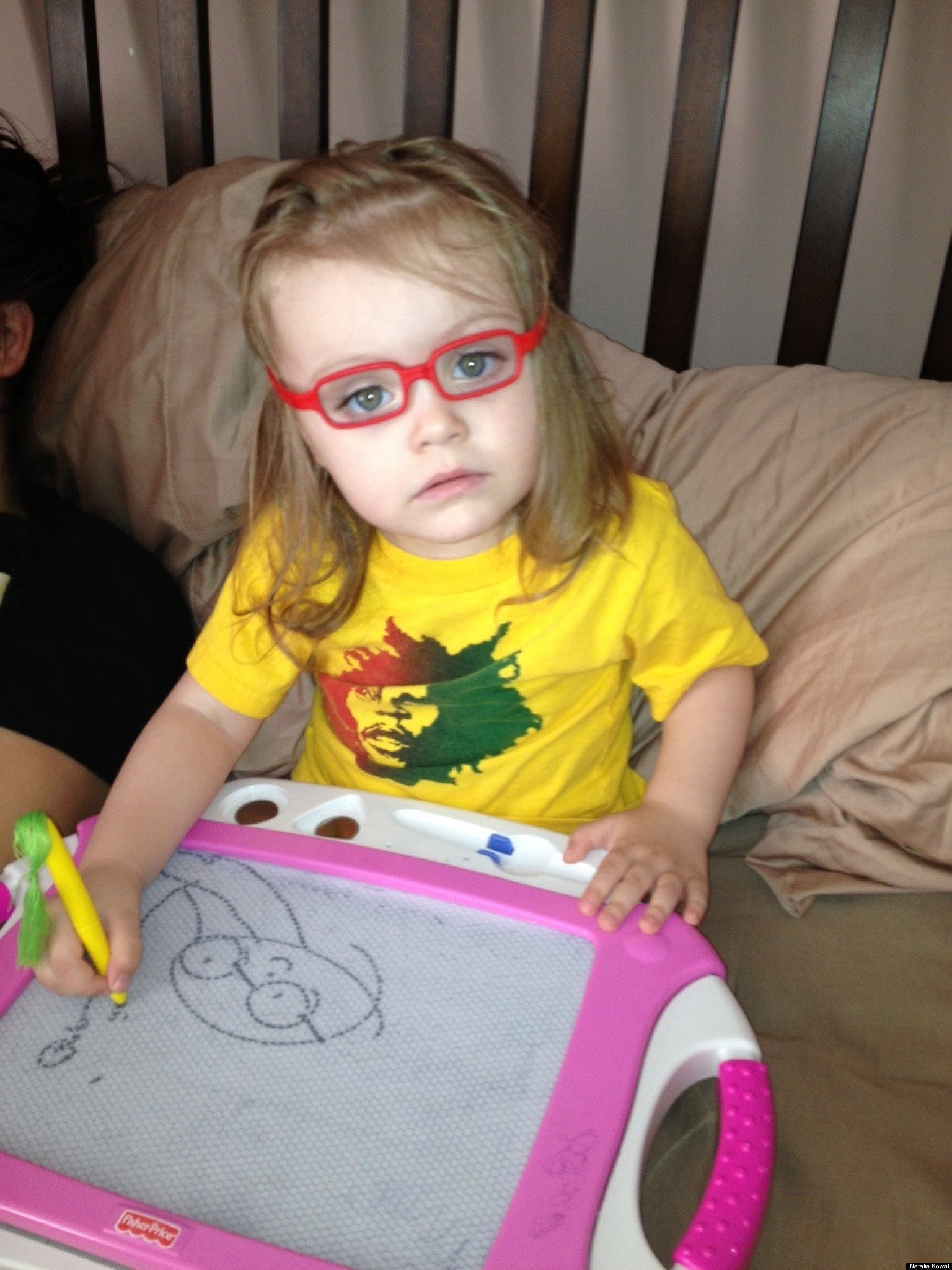 Adorable Toddler Sofia Gets Glasses, Now Includes Spectacles In Her ...