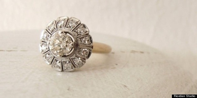 ring amavida jewellery inspired white diamond vintage engagement products rings gold