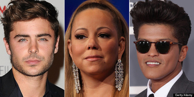 Gay rumour stars have included Zac Efron, Mariah Carey and Bruno Mars