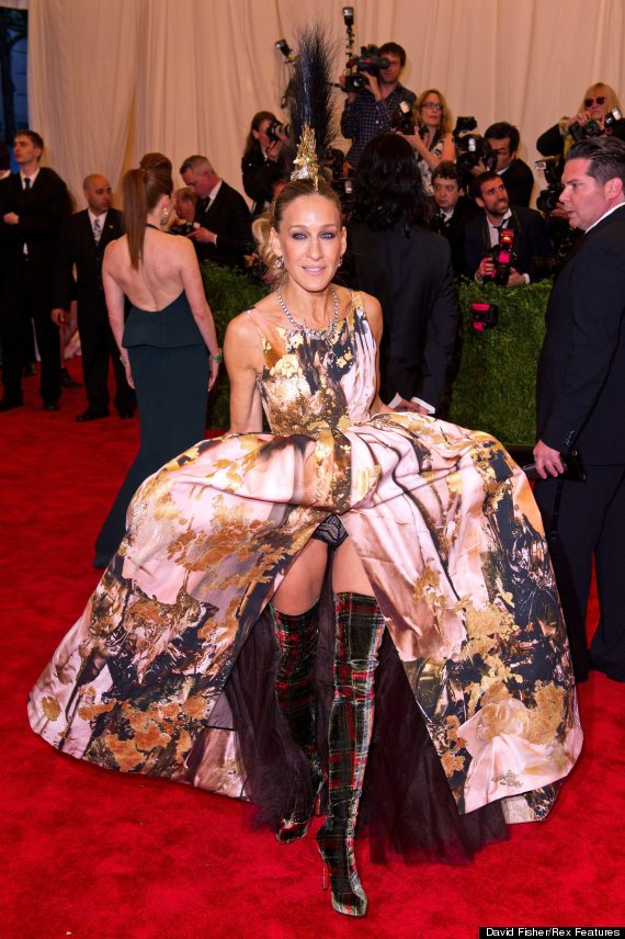 Sarah Jessica Parker's Underwear Exposed At Met Gala In