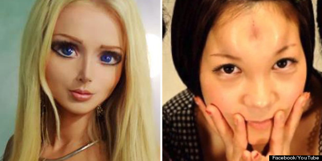 Real-life Barbie and bagel heads