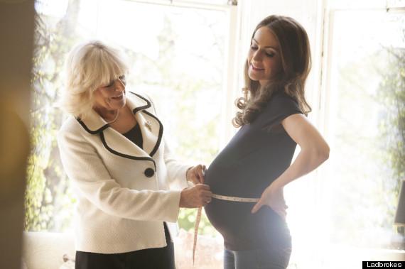 kate middleton pregnant spoof
