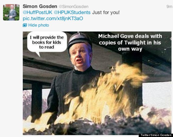 o MICHAEL GOVE TWILIGHT 570?3 michael gove attacks stephenie meyer's twilight series, says