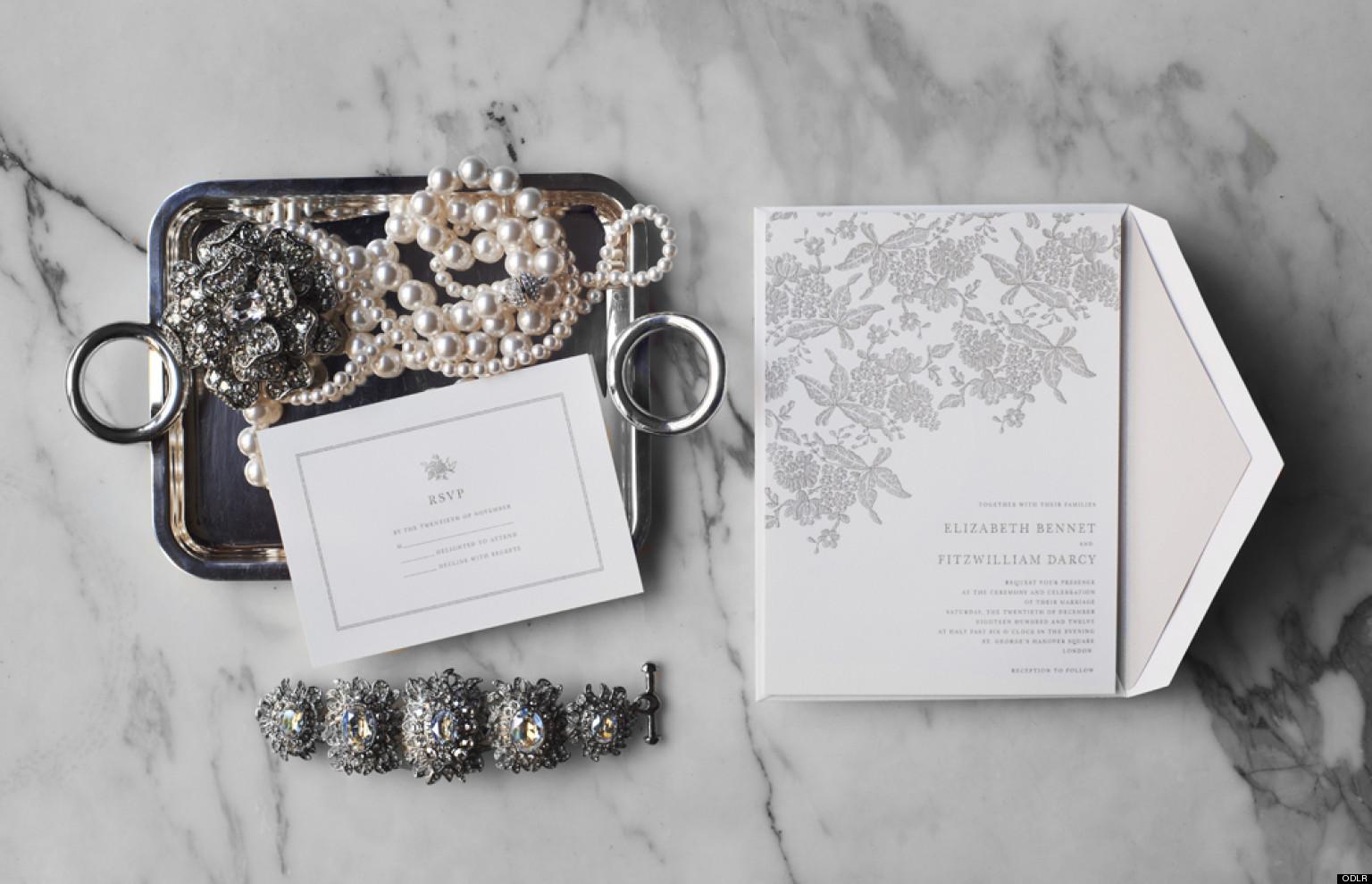Oscar de la Renta Wedding Invitations: Designer Launches Stationery ...