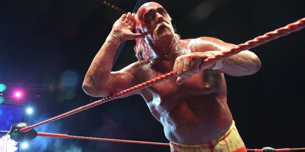 PERTH, AUSTRALIA - NOVEMBER 24:  Hulk Hogan in action during his Hulkamania Tour at the Burswood Dome on November 24, 2009 in Perth, Australia.  (Photo by Matt Jelonek/WireImage)