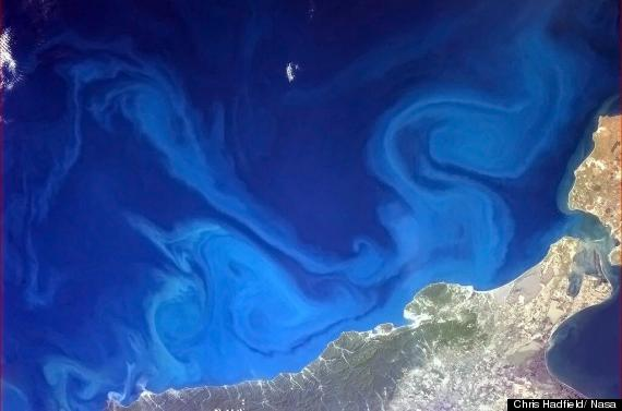 the black sea taken from space