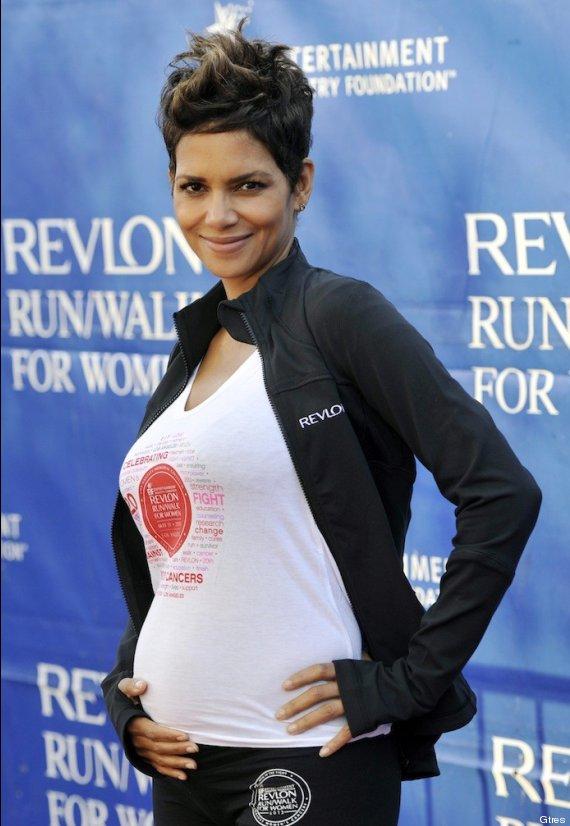 halle berry barriga embarazada