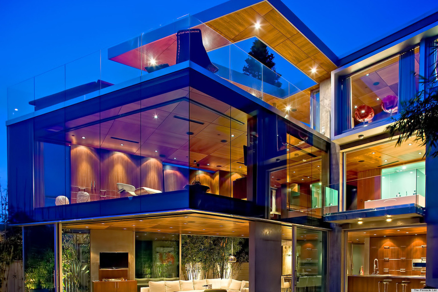 lemperle glass house residence is seriously a home lovers dream photos huffpost - Biggest House In The World 2014